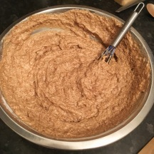 Finished cake mix.